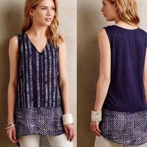 Anthropologie Dolan Batik Print Tunic